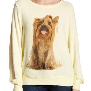 New Wildfox Granny's Dog Yorkie Jumper Sweatshirt